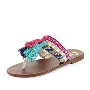 Sam Edelman Brice embroidered tassel sandals